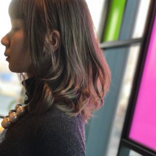 ニュアンス ミルクティー ボブ フリンジバング ヘアスタイルや髪型の写真・画像