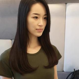 オフィス 黒髪 ロング 大人女子 ヘアスタイルや髪型の写真・画像