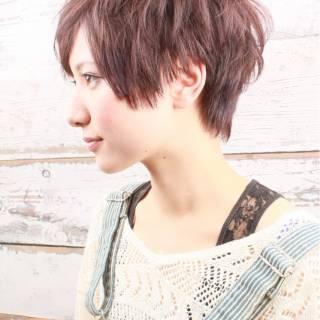 ストリート 黒髪 大人かわいい ベリーショート ヘアスタイルや髪型の写真・画像