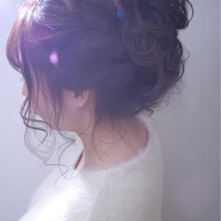 ロング 結婚式 外国人風カラー ヘアアレンジ ヘアスタイルや髪型の写真・画像