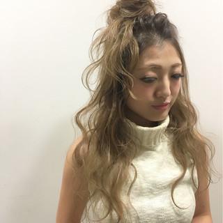 ストリート ヘアアレンジ ハイライト 外国人風 ヘアスタイルや髪型の写真・画像