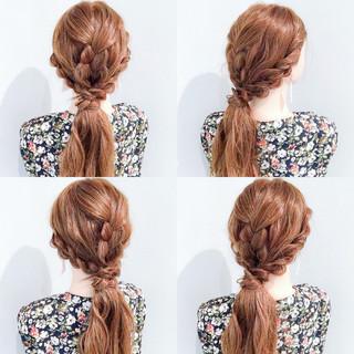 デート 夏 簡単ヘアアレンジ 上品 ヘアスタイルや髪型の写真・画像