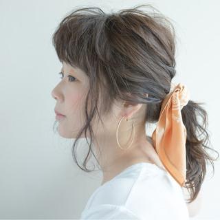 ヘアアレンジ ショート ナチュラル ミディアム ヘアスタイルや髪型の写真・画像 ヘアスタイルや髪型の写真・画像