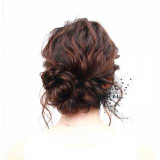 結婚式 ヘアアレンジ 大人かわいい モテ髪 ヘアスタイルや髪型の写真・画像