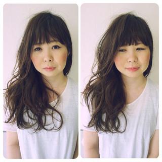 外国人風 ヘアアレンジ ロング 黒髪 ヘアスタイルや髪型の写真・画像
