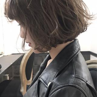 冬 外国人風 ボブ 大人かわいい ヘアスタイルや髪型の写真・画像