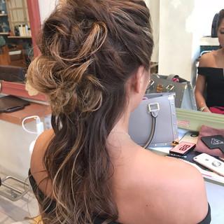 ロング ヘアアレンジ セクシー かっこいい ヘアスタイルや髪型の写真・画像