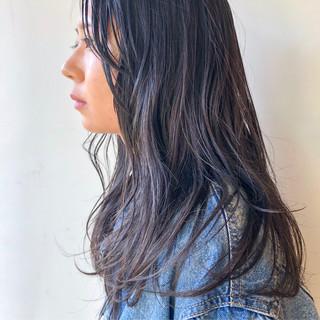 ナチュラル ロング 透明感カラー ナチュラル可愛い ヘアスタイルや髪型の写真・画像