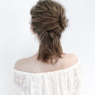 女子会 簡単ヘアアレンジ デート 結婚式 ヘアスタイルや髪型の写真・画像 ヘアスタイルや髪型の写真・画像