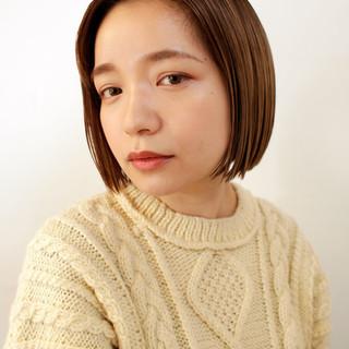 フェミニン ボブ デート ショートボブ ヘアスタイルや髪型の写真・画像