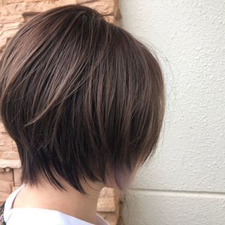 小顔ショート ショート 黒髪 ショートヘア ヘアスタイルや髪型の写真・画像