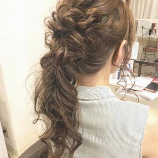 上品 ポニーテール 女子会 ヘアアレンジ ヘアスタイルや髪型の写真・画像