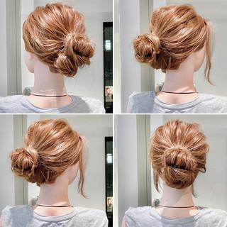 簡単ヘアアレンジ くるりんぱ アップスタイル ヘアセット ヘアスタイルや髪型の写真・画像