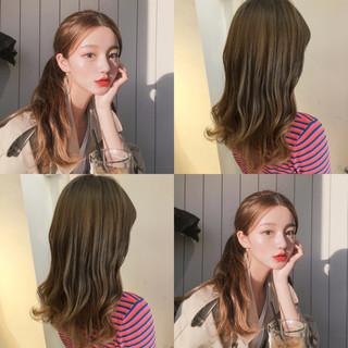 オルチャン ナチュラル 渋谷系 透明感 ヘアスタイルや髪型の写真・画像