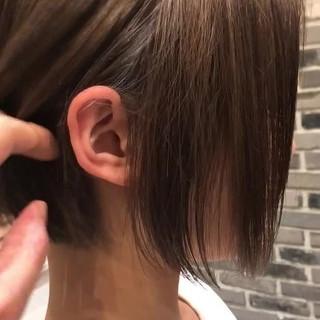 ボブ グラデーションボブ ブランジュ モード ヘアスタイルや髪型の写真・画像
