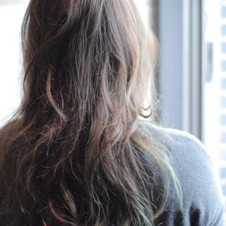 かわいい ストリート ロング フェミニン ヘアスタイルや髪型の写真・画像