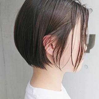 ナチュラル ショート 黒髪 パーマ ヘアスタイルや髪型の写真・画像