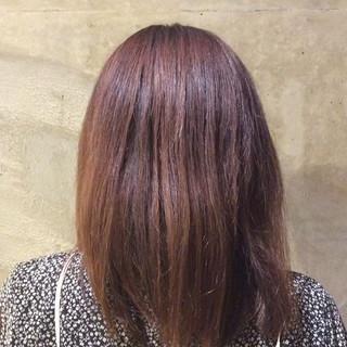 トリートメント サラサラ クセ セミロング ヘアスタイルや髪型の写真・画像