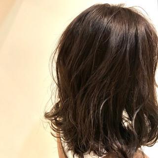 抜け感 こなれ感 秋 ミディアム ヘアスタイルや髪型の写真・画像
