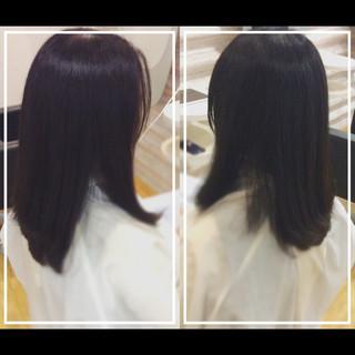 黒髪 大人ヘアスタイル オフィス 髪質改善トリートメント ヘアスタイルや髪型の写真・画像 ヘアスタイルや髪型の写真・画像