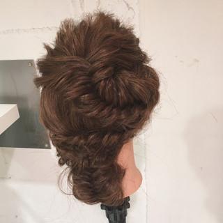 ロング 簡単ヘアアレンジ 大人女子 ゆるふわ ヘアスタイルや髪型の写真・画像