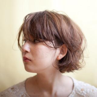 ハイライト ボブ 外国人風 外国人風カラー ヘアスタイルや髪型の写真・画像