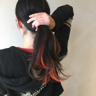 デート セミロング ストリート ヘアアレンジ ヘアスタイルや髪型の写真・画像