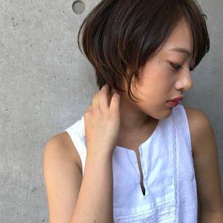 ハンサムショート ショート ナチュラル ベリーショート ヘアスタイルや髪型の写真・画像