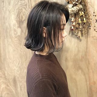 透明感 ストリート ボブ 外ハネ ヘアスタイルや髪型の写真・画像