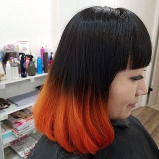 ボブ 縮毛矯正名古屋市 モード 派手髪 ヘアスタイルや髪型の写真・画像