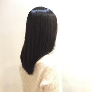 黒髪 艶髪 ストレート ナチュラル ヘアスタイルや髪型の写真・画像