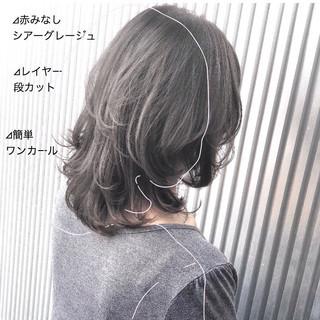 ストレート 髪質改善 縮毛矯正 ミディアム ヘアスタイルや髪型の写真・画像