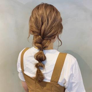 ロング セルフアレンジ 簡単ヘアアレンジ セルフヘアアレンジ ヘアスタイルや髪型の写真・画像
