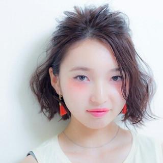 ショート ハーフアップ ボブ ヘアアレンジ ヘアスタイルや髪型の写真・画像 ヘアスタイルや髪型の写真・画像