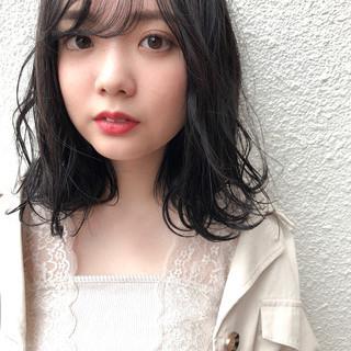 抜け感 ナチュラル可愛い 地毛風カラー 暗髪 ヘアスタイルや髪型の写真・画像