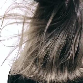 ミディアム グレージュ デート 外国人風カラー ヘアスタイルや髪型の写真・画像