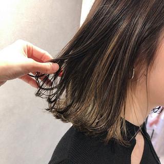 アンニュイほつれヘア ストリート ボブ アウトドア ヘアスタイルや髪型の写真・画像