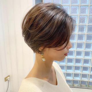 デート アウトドア ショート ヘアアレンジ ヘアスタイルや髪型の写真・画像