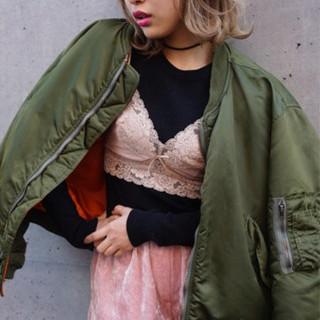グラデーションカラー 外国人風 ストリート 外ハネ ヘアスタイルや髪型の写真・画像