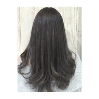 透明感 グレージュ 春 ハイライト ヘアスタイルや髪型の写真・画像