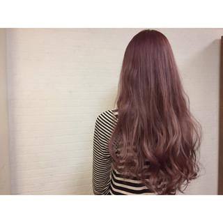 ガーリー ゆるふわ ロング ハイライト ヘアスタイルや髪型の写真・画像 ヘアスタイルや髪型の写真・画像