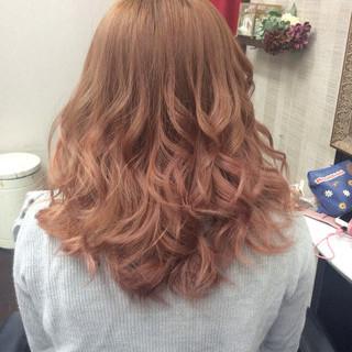 ガーリー 外国人風カラー ダブルカラー ミディアム ヘアスタイルや髪型の写真・画像