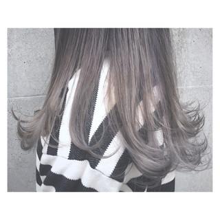 外国人風 アッシュ 透明感 ロング ヘアスタイルや髪型の写真・画像