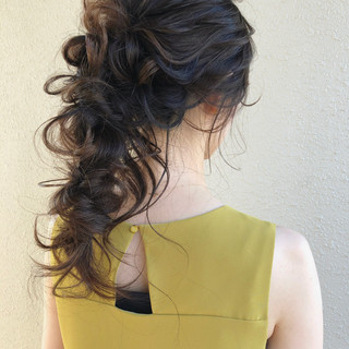 大人かわいい フェミニン アンニュイほつれヘア ロング ヘアスタイルや髪型の写真・画像