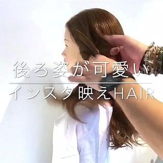 デート ヘアアレンジ 簡単ヘアアレンジ セミロング ヘアスタイルや髪型の写真・画像