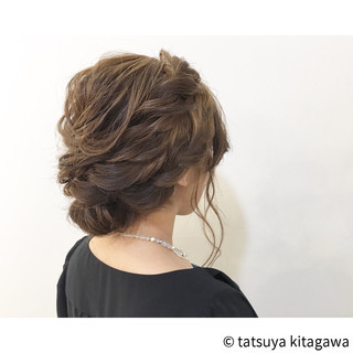 結婚式 エレガント ロング 上品 ヘアスタイルや髪型の写真・画像
