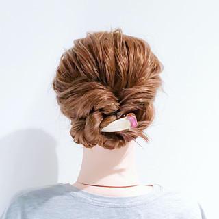 簡単ヘアアレンジ ヘアアレンジ セミロング くるりんぱ ヘアスタイルや髪型の写真・画像