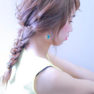 上品 ウェーブ ロング ヘアアレンジ ヘアスタイルや髪型の写真・画像