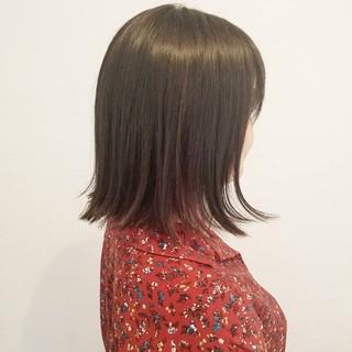 ナチュラル ボブ インナーカラー 女子力 ヘアスタイルや髪型の写真・画像
