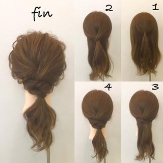 ヘアアレンジ ミディアム ナチュラル デート ヘアスタイルや髪型の写真・画像 ヘアスタイルや髪型の写真・画像